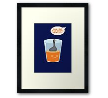 CAN I GET A LIL GOOSE IN MY OJ? Framed Print