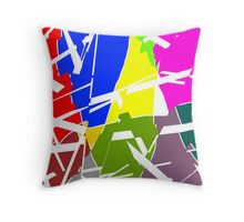 Broken Pieces - Art1 Throw Pillow