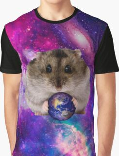 Space Hamster Graphic T-Shirt