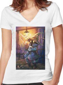 Vivi Mam Women's Fitted V-Neck T-Shirt