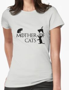 Mother of cats Game of thrones Womens Fitted T-Shirt