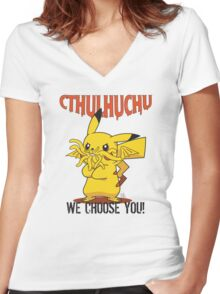 Cthulhuchu Women's Fitted V-Neck T-Shirt
