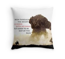 Horse with no name - Colossus Throw Pillow