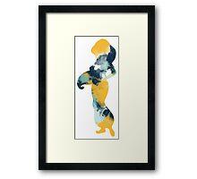 Character Inspired Silhouette  Framed Print
