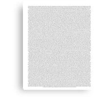 every Twenty One Pilots song/lyric off Blurryface Canvas Print