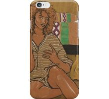 Golden Girl - On Brown Paper iPhone Case/Skin