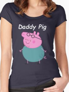 Daddy Pig  Women's Fitted Scoop T-Shirt
