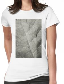 Macro Leaf Detail Womens Fitted T-Shirt