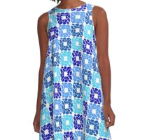 Flowers Squared A-Line Dress