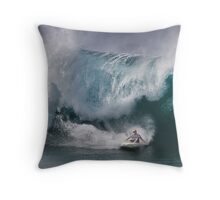 John John Florence At Billabong Pipe Masters In Memory of Andy Irons 2011 Throw Pillow
