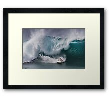 John John Florence At Billabong Pipe Masters In Memory of Andy Irons 2011 Framed Print