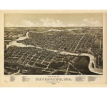 Aerial View of Watertown, Wisconsin (1885) Photographic Print