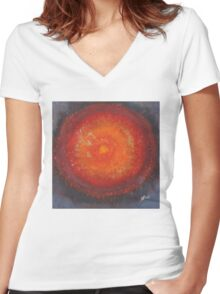 Third Eye original painting Women's Fitted V-Neck T-Shirt