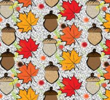 Maple leaves and acorns Sticker