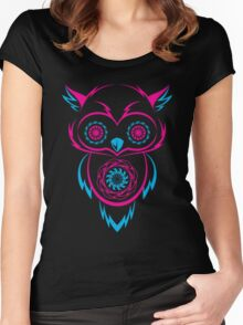 Night Owl Women's Fitted Scoop T-Shirt