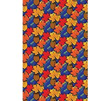 Fall leaves and acorns Photographic Print