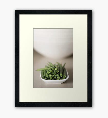 Beans.... Framed Print