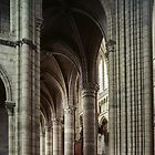 From north transept to nave Cathedral Soissons France 198405070008 by Fred Mitchell
