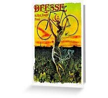 """""""DEESE"""" Vintage Bicycle Advertising Print Greeting Card"""