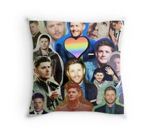 Dean from Supernatural Collage Throw Pillow