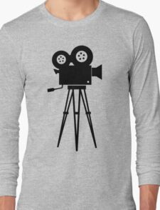 Film Camera Movies Photography Vintage Retro Long Sleeve T-Shirt