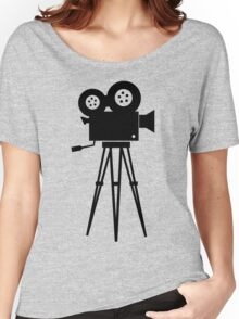 Film Camera Movies Photography Vintage Retro Women's Relaxed Fit T-Shirt