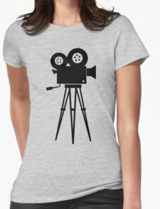 Film Camera Movies Photography Vintage Retro Womens Fitted T-Shirt