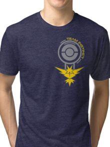 Pokemon Go - Team Instinct Pokestop Design Tri-blend T-Shirt