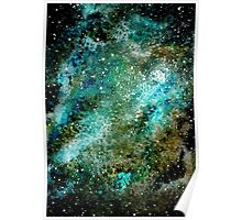 Watercolor Light Blue Nebula Poster