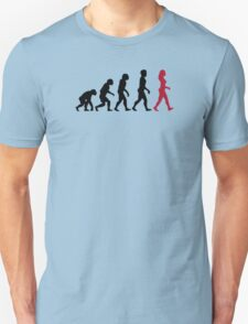 Evolution of Womens Unisex T-Shirt
