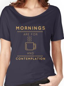 "Stranger Things: ""Coffee & Contemplation"" Women's Relaxed Fit T-Shirt"