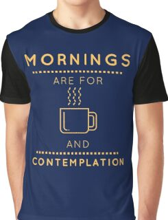 """Stranger Things: """"Coffee & Contemplation"""" Graphic T-Shirt"""