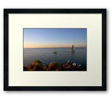birds & boats Framed Print