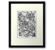 Something smart and funny Framed Print