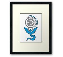 Pokemon Go - Team Mystic Pokestop Design Framed Print