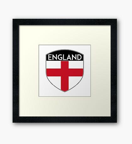 ENGLAND GREAT BRITAIN UNITED KINGDOM FLAG CREST Framed Print