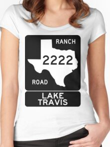 RM 2222 - Lake Travis Women's Fitted Scoop T-Shirt