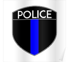 POLICE COPS THIN BLUE LINE SUPPORT CREST LAW ENFORCEMENT SHERIFF Poster