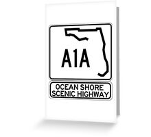 A1A - Ocean Shore Scenic Highway Greeting Card