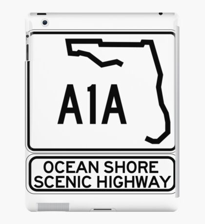 A1A - Ocean Shore Scenic Highway iPad Case/Skin