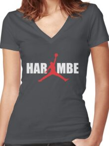 harambe Women's Fitted V-Neck T-Shirt
