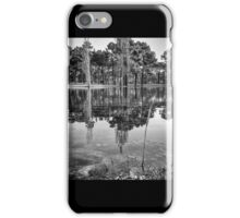 Lake Reflections - B&W iPhone Case/Skin