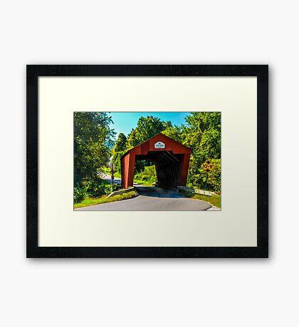 Cooley Covered Bridge Framed Print