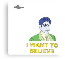 Eye Want to Believe  Canvas Print