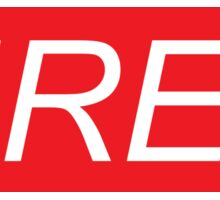 Tired (Supreme Parody) Sticker