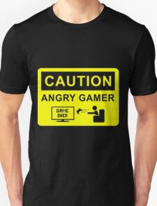 Caution Angry Gamer Unisex T-Shirt