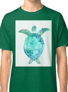 Blue Turtle, turtle art, ocean turtle swiming Classic T-Shirt