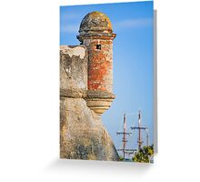 Spanish Fort and Galleon Greeting Card