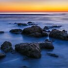 Beach Rocks Sunrise by Kenneth Keifer