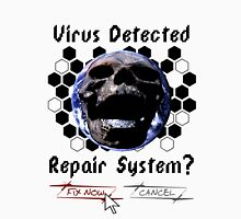 Virus Detected Men's Baseball ¾ T-Shirt